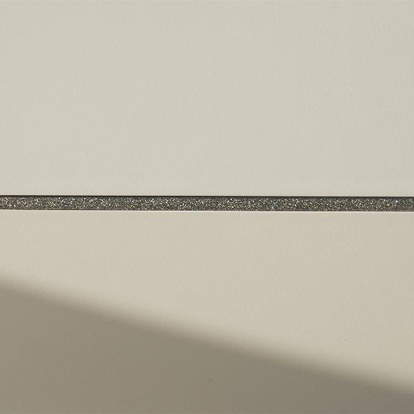 Grey sparkle metal mosaic listello bar
