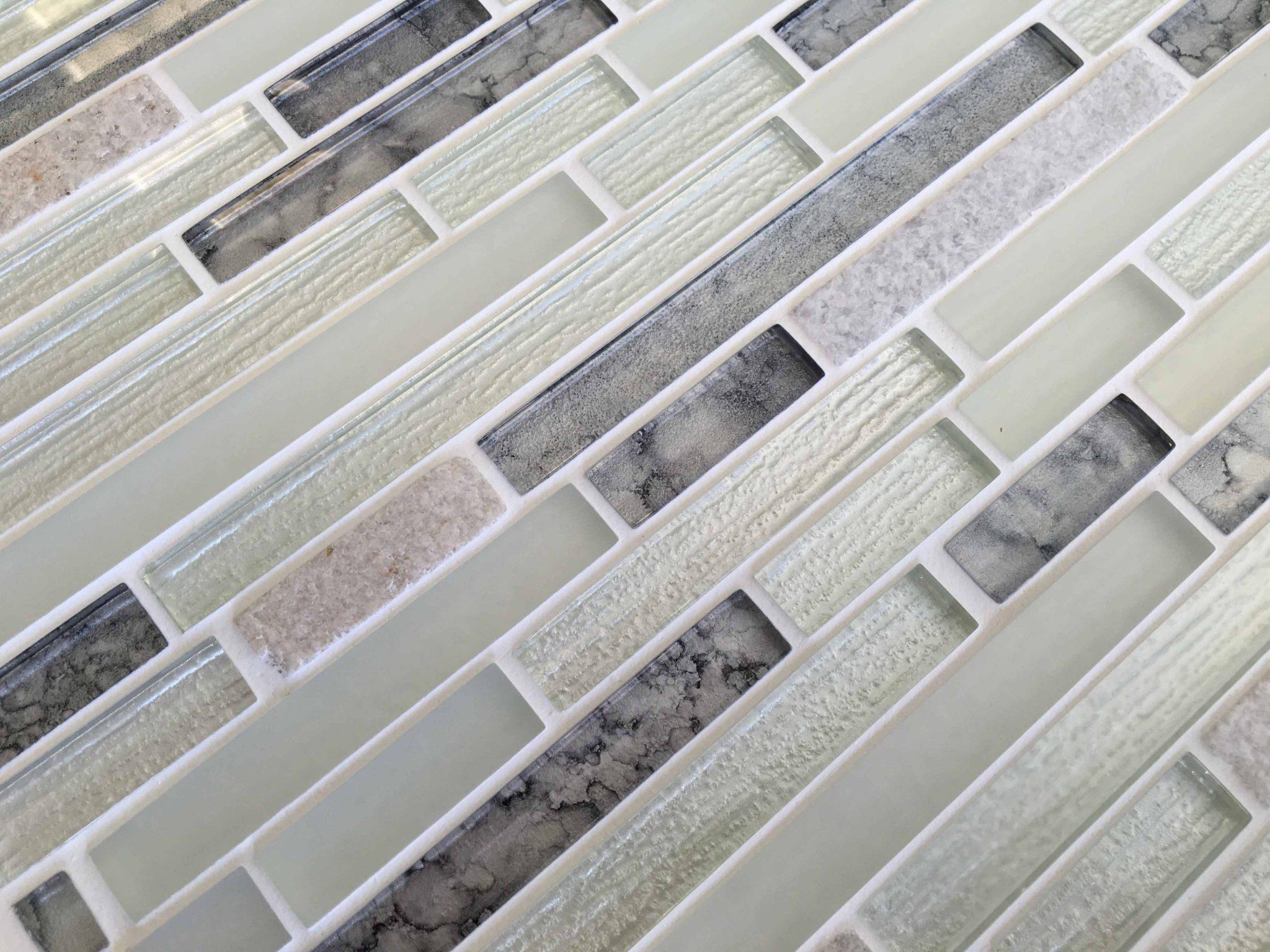 Calactie white mosaic brick tiles