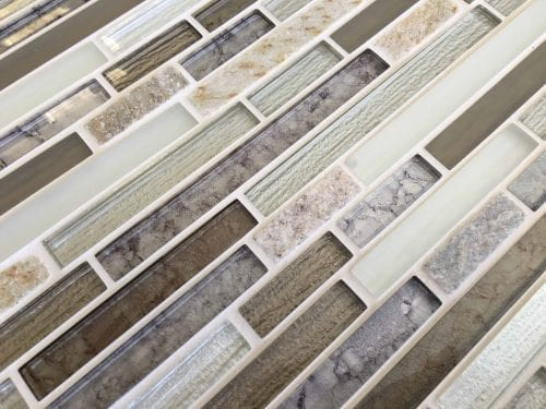 Dolomite brown mosaic brick tiles