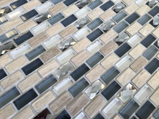 Albalone grey mosaic brick tile