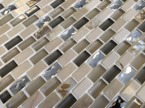 Lucine cream mosaic brick tile