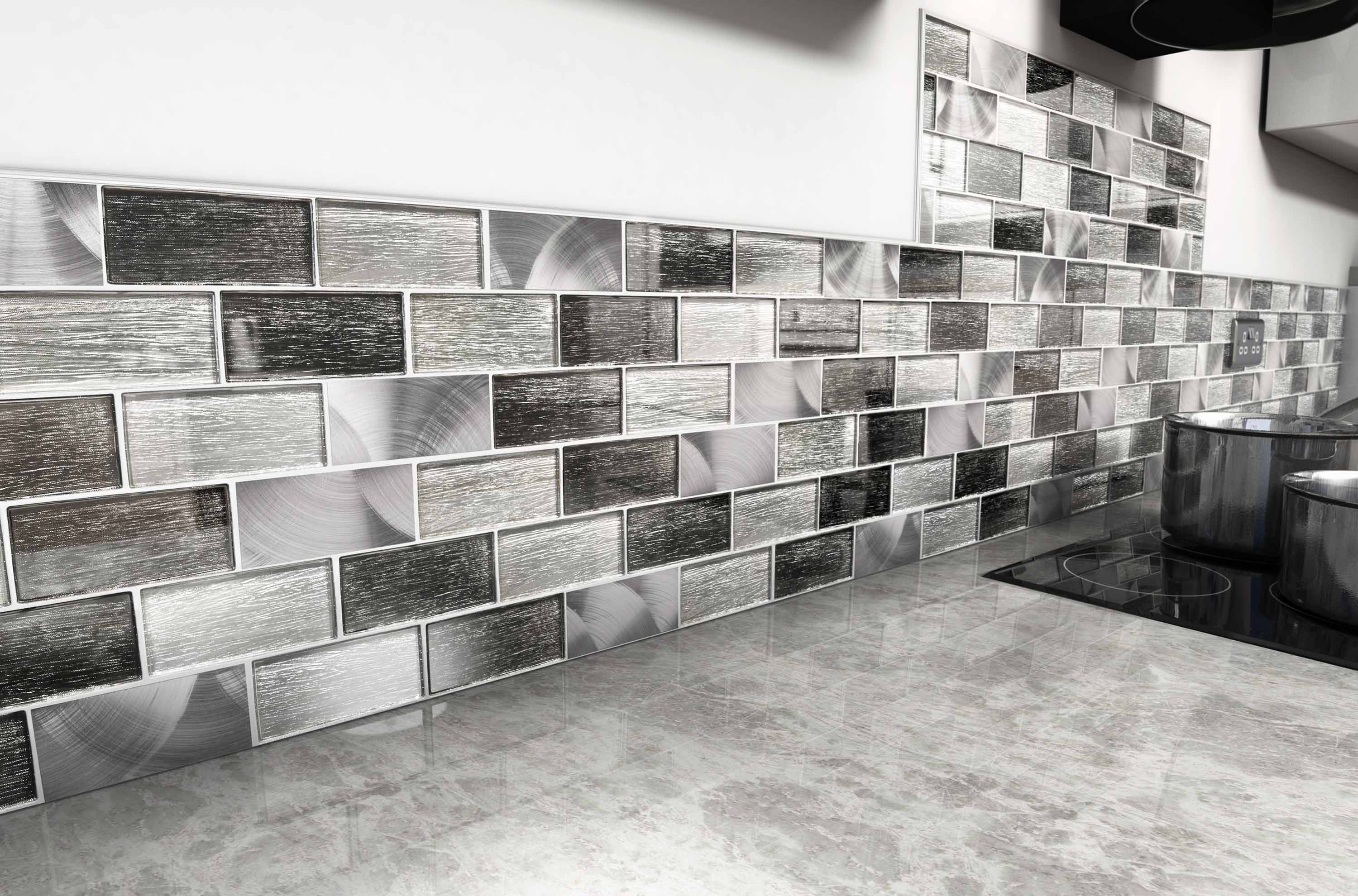 Superbe The Metal Mosaic Tiles Featured Is Portland   Grey.