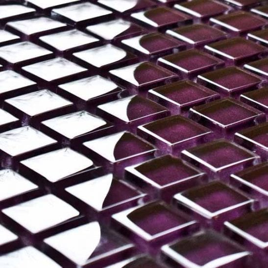 Damson-mos mosaic tiles