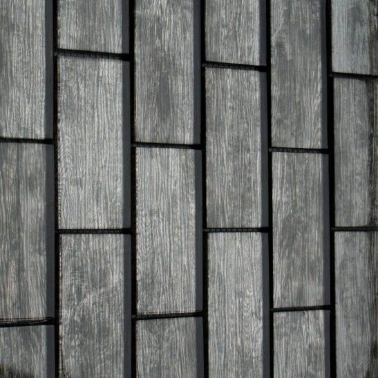 Rustica Grey wood effect glass tiles
