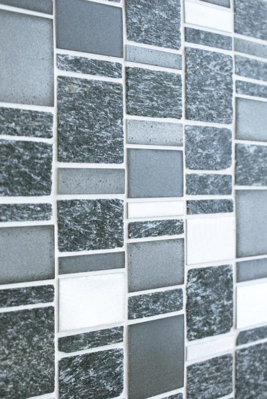 Heritage Rectangular Black wall and floor mosaic tiles