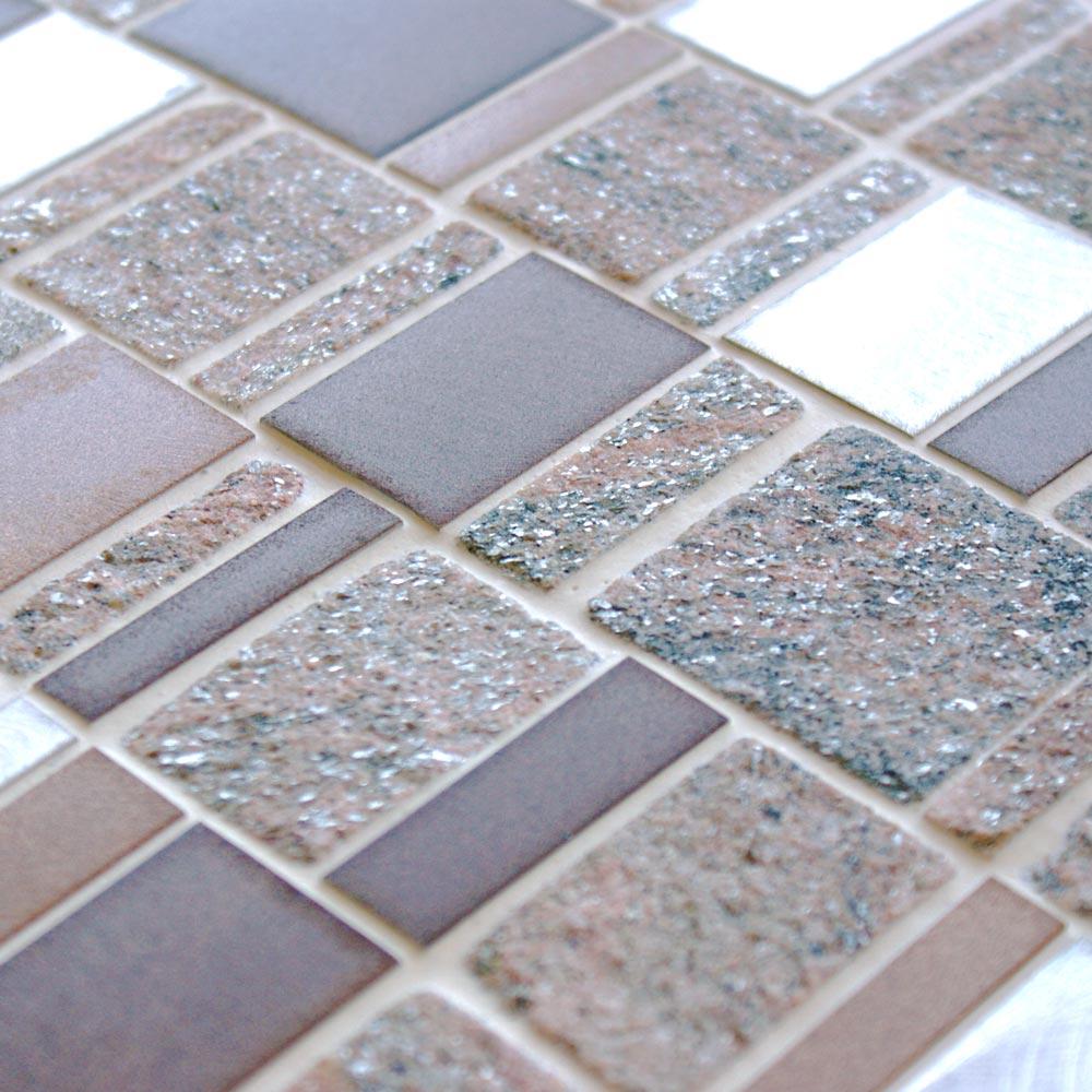 Heritage Rectangular Brown wall and floor mosaic tiles