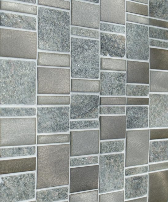 Heritage Rectangular Grey wall and floor mosaic tiles