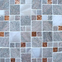 Heritage Square Rose wall and floor mosaic tiles