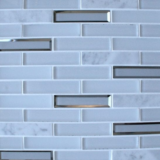 Glacier White Mosaic Brick Tiles