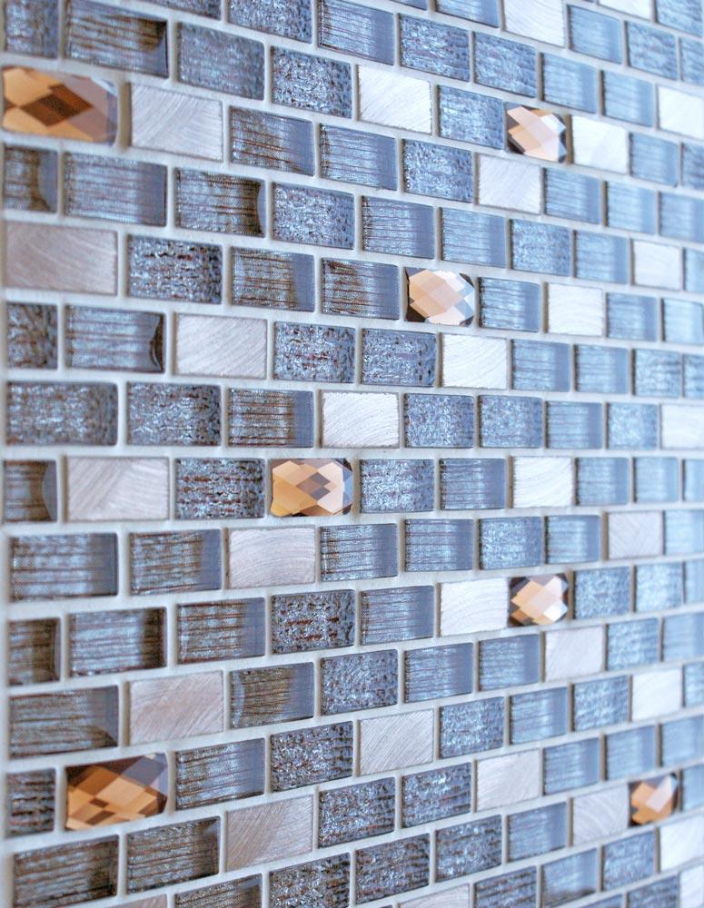 Elegance Brown mosaic brick tiles