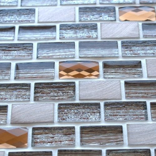 Elegance Brown mosaic brick tiles