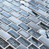 Elegance Black mosaic brick tiles