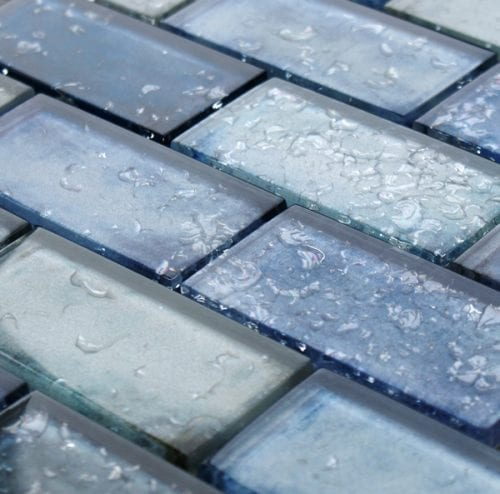 Andromeda Blue Glass Brick Tiles