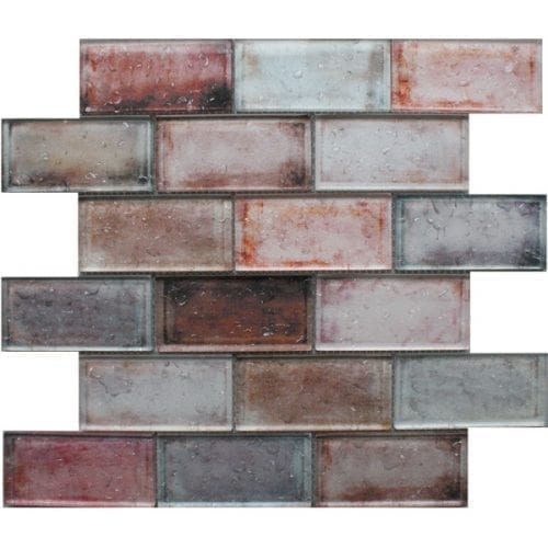 Andromeda brown glass brick tiles