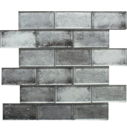 Andromeda Grey Glass Brick Tiles