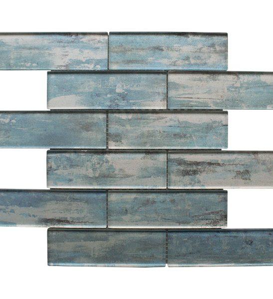 Atlantis Blue Mosaic Brick Tiles