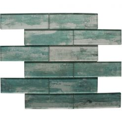 Atlantis Green Mosaic Brick Tiles