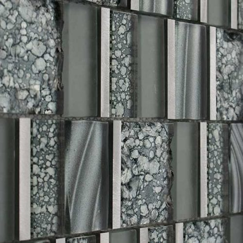 Grey multi format mosaic tiles for kitchen or bathrooms