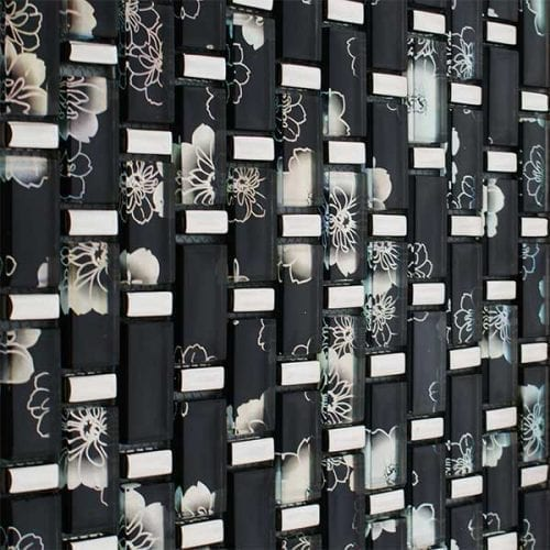 Chrome mosaic brick tiles for kitchens and bathrooms