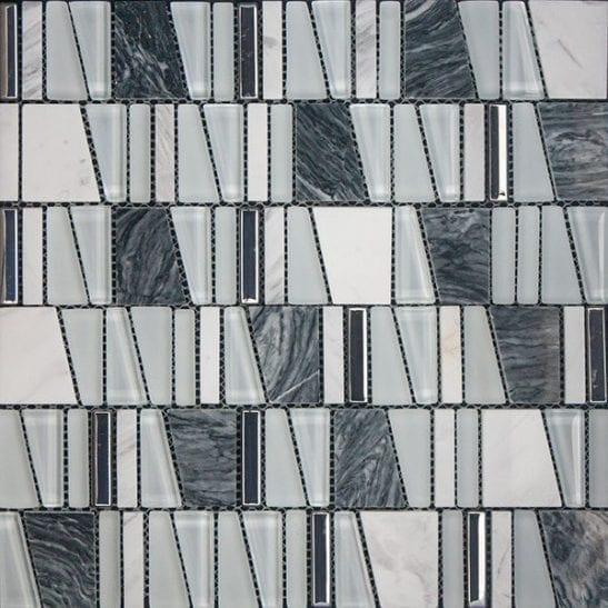 Cario Grey Mosaic Tiles