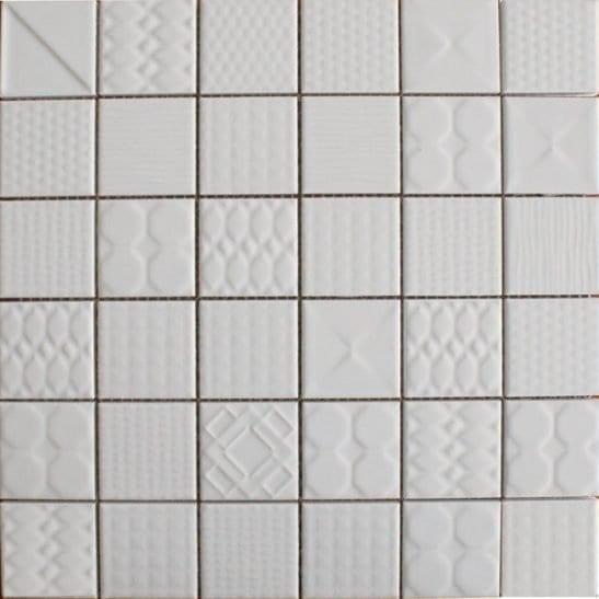 Geo White Ceramic Tiles
