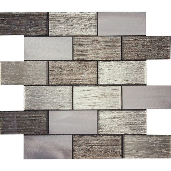 Paris Brown Glass and Metal Tiles