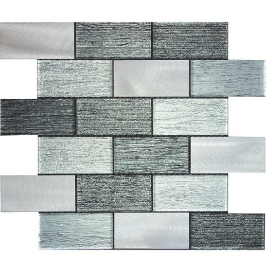 Paris Grey Glass and Metal Tiles