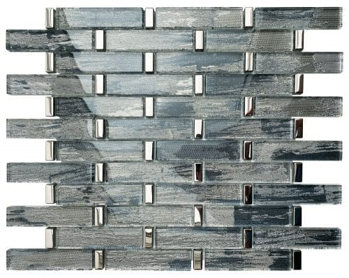 Radiance Blue Mosaic Brick Sheet