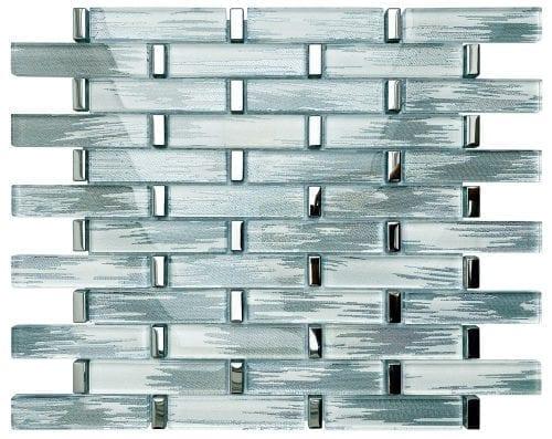 Radiance Grey Mosaic Brick Sheet