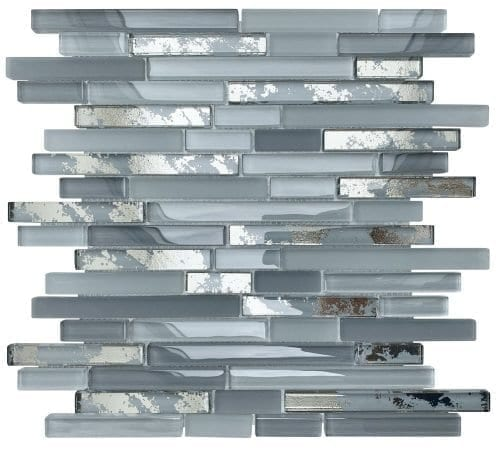 Solar Grey Mosaic Brick Tiles