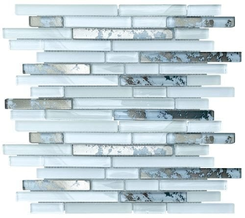 Solar White Mosaic Brick Tiles