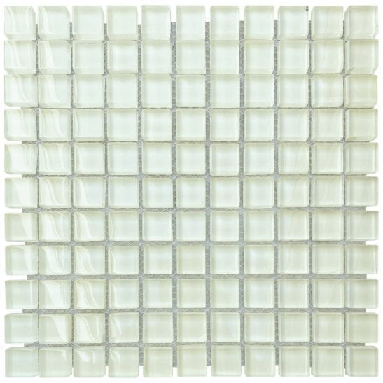 soft cream glass mosaics